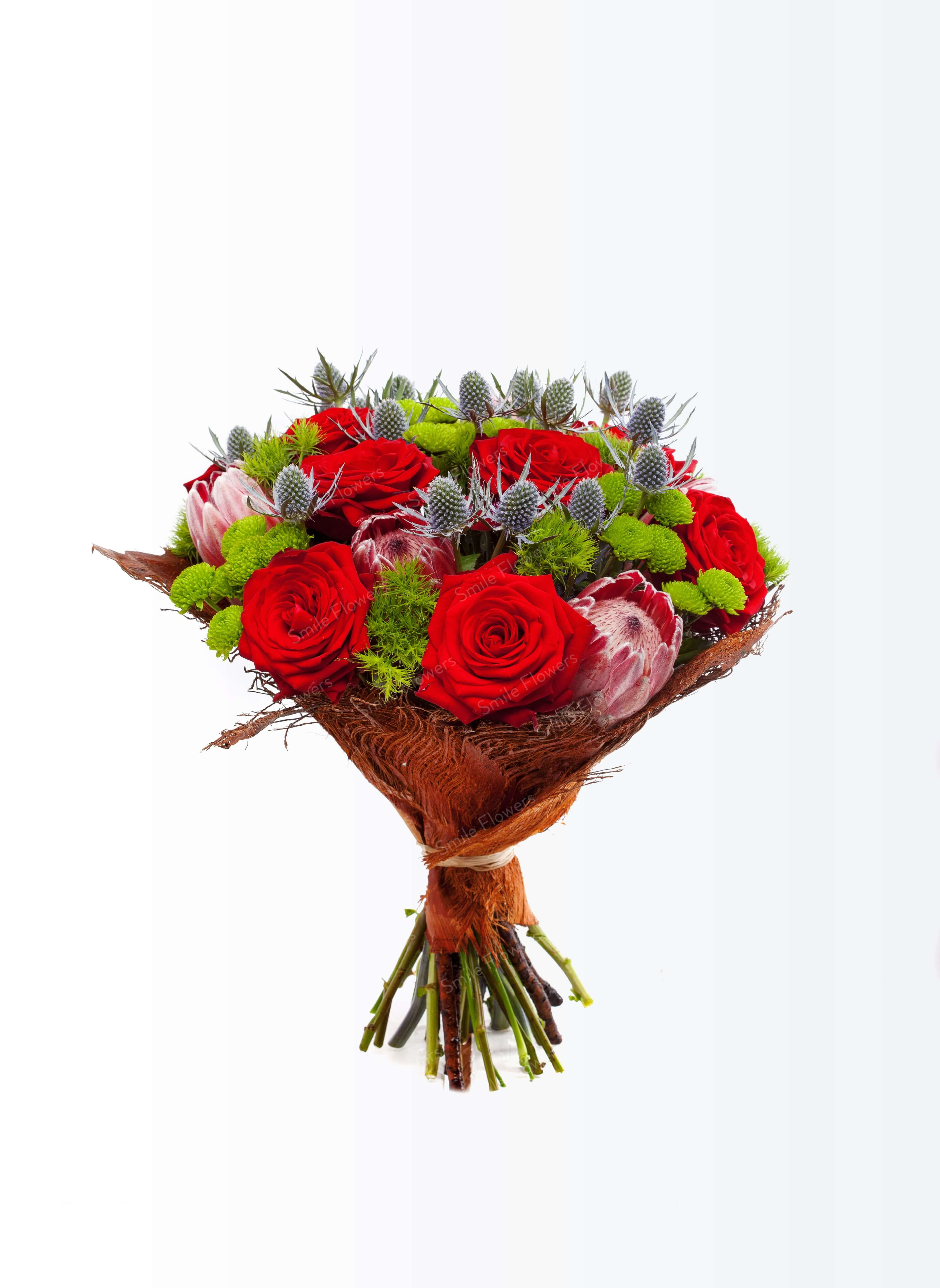 A Classical Flower Bouquet With Red Roses Ziedu Piegāde Riga Latvia